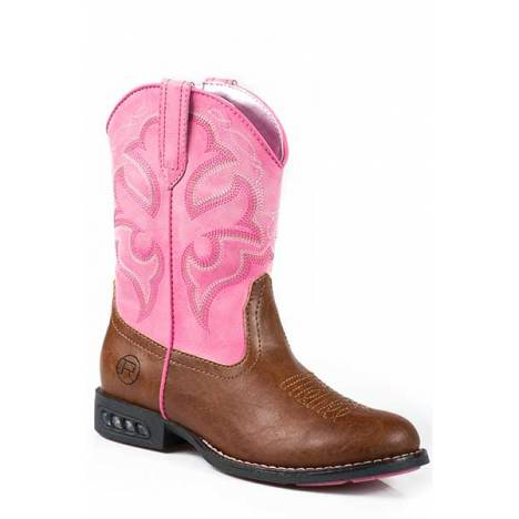 Roper Lightning Light Up Western Boot- Girl's
