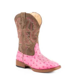 Roper Annabelle Square Toe Western Boot- Girl's