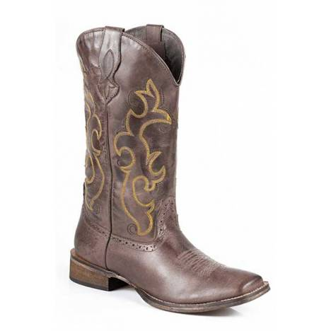 Roper Lindsey Basic Wide Square Toe Western Boot- Ladies
