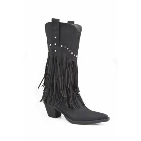 Roper Oakley Fringe And Stud Fashion Boot- Ladies