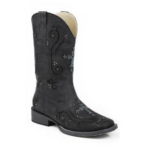 Roper Faith Bling Square Toe Western Boot- Ladies