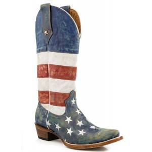 Roper Americana Flag Snip Toe Western Boot- Ladies