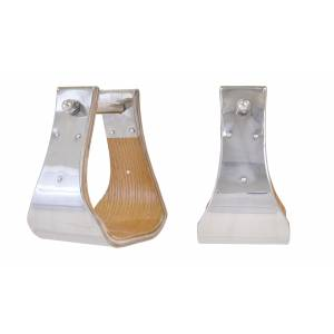 Partrade Stainless Steel Covered Wood Stirrups