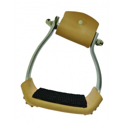 Metalab Slanted Wide Aluminum Stirrup with Rubber Pad