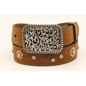 Ariat Flower Embroidered Belt - Girls