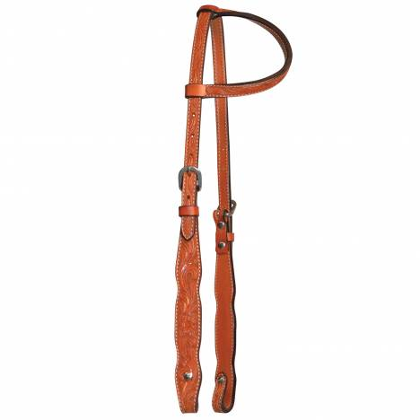 Circle Y One Ear Floral Tooled Headstall