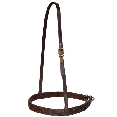 Circle Y Straight Floral Tooled Noseband