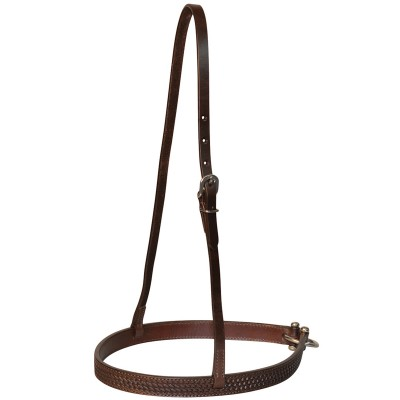 Circle Y Straight Basket Tooled Noseband