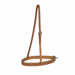 Circle Y Buckstitch Floral Noseband