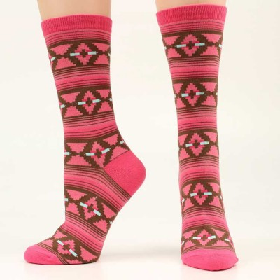 Ariat Pattern Crew Sock - Ladies