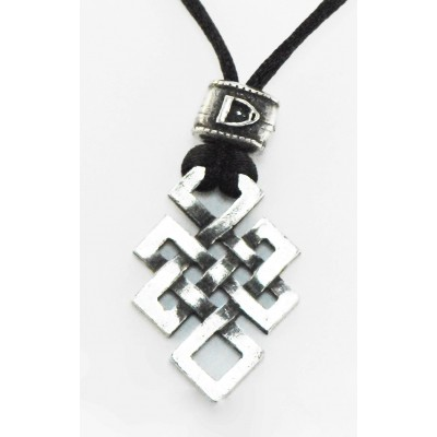 Barbary Celtic Knot On Cord Necklace