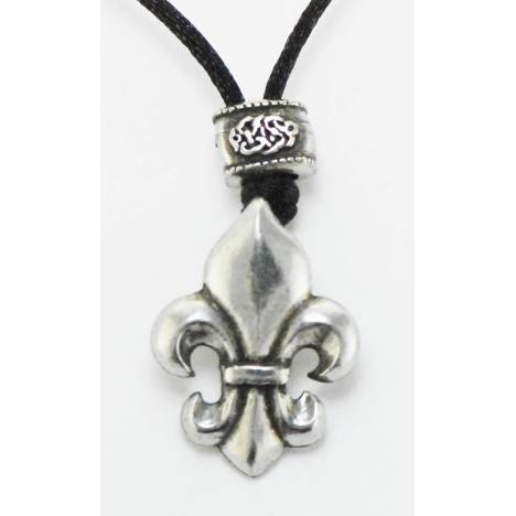 Barbary Fleur Di Lis On Cord Necklace