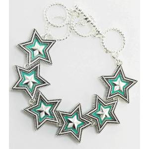 Western Edge Crystal Double Star Bracelet