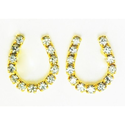 Western Edge Crystal Rhinestone Horseshoe Earrings