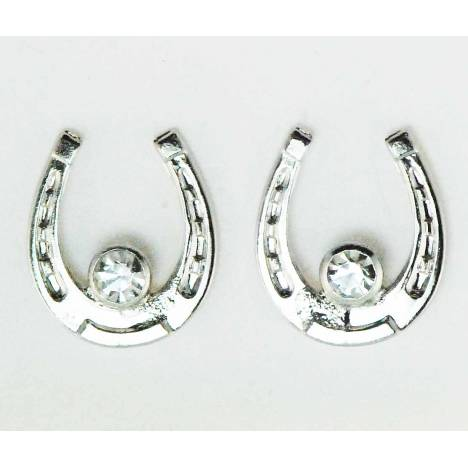 Western Edge Crystal Stone Horseshoe Earrings