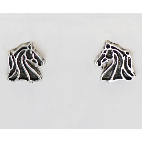 Western Edge Free Form Horsehead Earrings