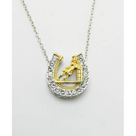 Western Edge Horseshoe Barrel Racer Necklace