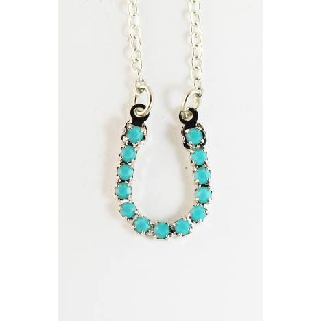 Western Edge Imitation Stones Horseshoe Necklace
