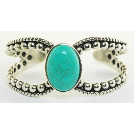 Western Edge Large Stone Beaded Bracelet
