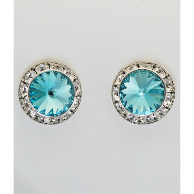 Western Edge Large Swarovski Rivolli Stone Earrings