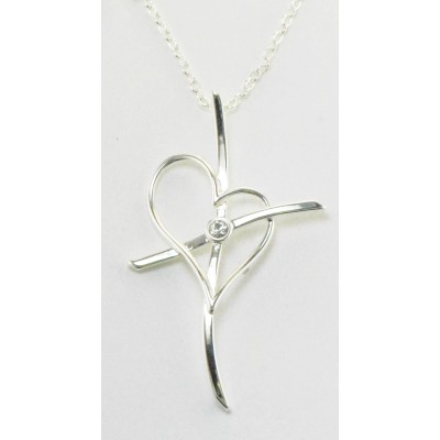 Western Edge Necklace, Cross My Heart Crystal