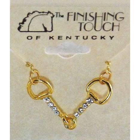 Western Edge Snaffle Bit With Crystal Stones Necklace