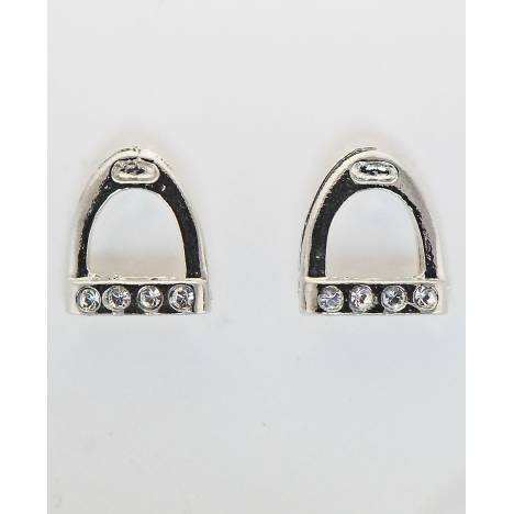 Western Edge Stone Accent English Stirrup Earrings