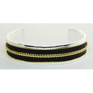 Western Edge Two Tone Rope Cuff Bracelet