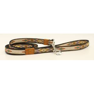 DBL Barrel Woven Ribbon Dog Leash - Tan/Multi