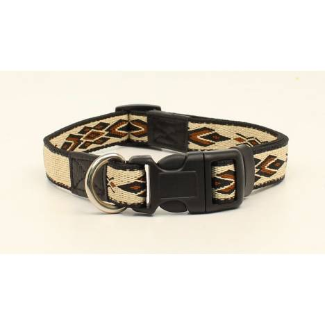 "DBL Barrel 3/4"" Woven Run Diamond Dog Collar - Tan"