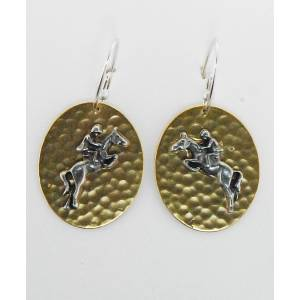 Finishing Touch Jumper On Hammered Disc French Wire Earrings