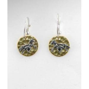 Finishing Touch Mom & Babe On Hammered Disc French Wire Earrings