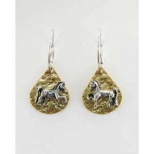 Finishing Touch Saddlebred On Texture Teardrop French Wire Earrings