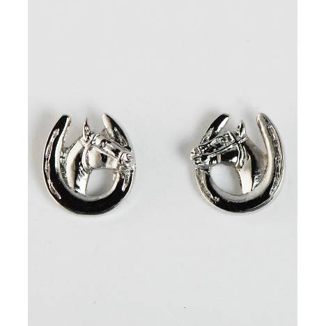 Finishing Touch Horse Head In Horse Shoe Earrings