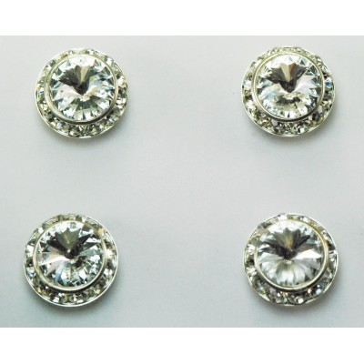 Finishing Touch Magnetic Crystal Stone Tack Number Pin