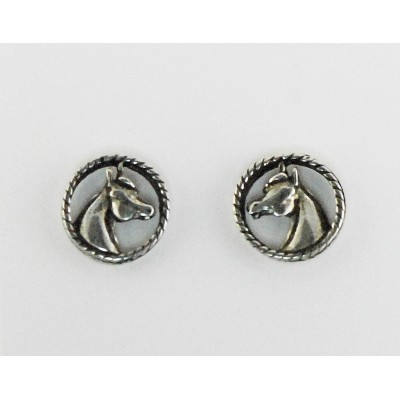 Finishing Touch Medium Horse Head In Rope Earrings