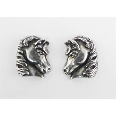 Finishing Touch Horse Head with Flowing Mane Earrings
