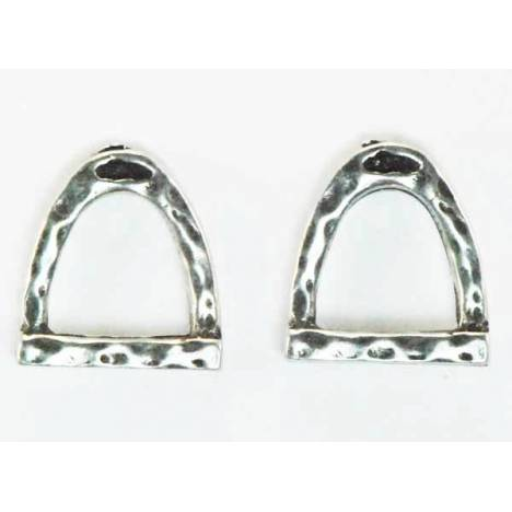 Finishing Touch Hammered Stirrup Earrings