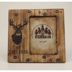 My 1st Deer Wood Picture Frame