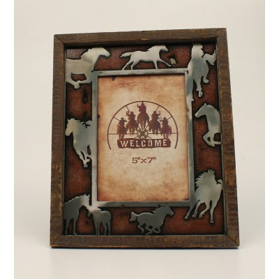 Running Horses Picture Frame