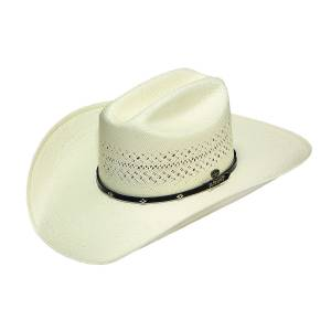 Ariat 20X Zig Zag Straw Western Hat- Men's