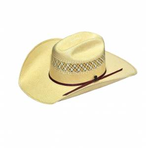 Ariat 20X Cattleman Crown Straw Western Hat- Men's