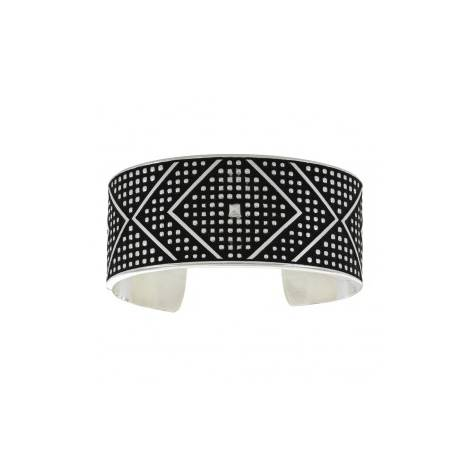 Montana Silversmiths Cross Cut Bead & Chevron Cuff Bracelet