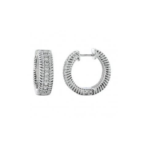 Montana Silversmiths Roped In Brilliance Hoop Earrings