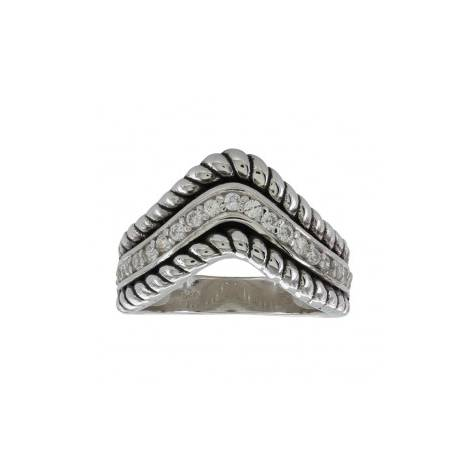 Montana Silversmiths Roped Crown Ring
