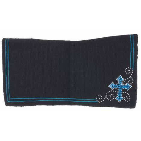 Tough 1 Wool Contoured Crystal Cross Saddle Blanket
