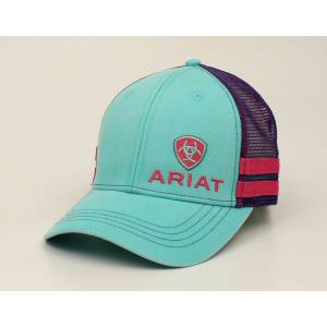 Ariat Offset Logo Stripe Ball Cap - Ladies