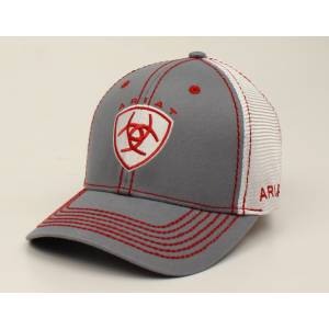 Ariat Center Shield Text Logo Ball Cap - Mens