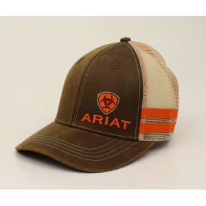 Ariat Offset Logo Oilskin Ball Cap - Mens
