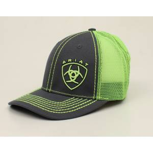 Ariat Offset Shield Two Color Ball Cap - Mens